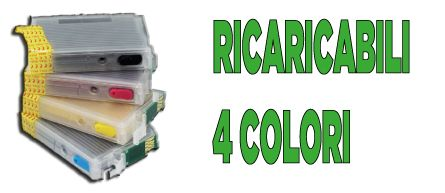 Cartucce ricaricabili a 4 colori